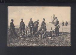 Dt. Reich AK Telegraphen-Abteilung Im Gelände - Ausrüstung