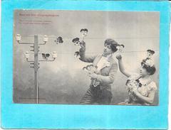 ILLUSTRATEUR BERGERET - Sur Les Fils Télégraphiques - Vers Vous En Colonne............... Chères Pensées - ENCH1612 - - Bergeret