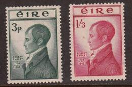 Ireland 1953 Robert Emmet, Mint No Hinge, Sc 149-150 - 1949-... Republik Irland