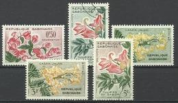 Gabon 1962, Fiori (o), 5 Valori - Gabon (1960-...)