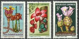 Gabon 1968, Fiori (**), 3 Valori - Gabon (1960-...)