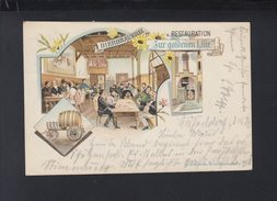 Dt. Reich Litho-AK Bier Bräuerei Zur Goldenen Lilie Düsseldorf 1898 Gelaufen - Düsseldorf