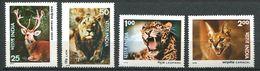 184 INDE 1976 - Yvert 494/97 - Felin Lion Leopard Cerf - Neuf ** (MNH) Sans Trace De Charniere