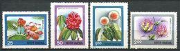 184 INDE 1977 - Yvert 518/21 - Fleur - Neuf ** (MNH) Sans Trace De Charniere