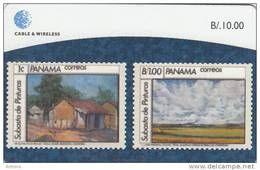 PANAMA - Stamps 5/Painters Of Panama, Used