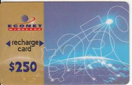ZIMBABWE - Econet Recharge Card $250, Exp.date 30/09/99, Used - Zimbabwe