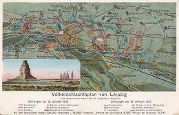 Bf - Cpa Allemagne - Völkerschlachtsplan Von Leipzig - Leipzig