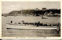 N°29646 -cpa Granville -le Port La Vedette Partant Pour Chausey- - Autres
