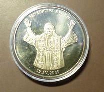 Medalla Token Jeton Alemania Benedictus XVI  2005 #m161 - Ohne Zuordnung