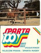 2-CARTES^-1990-TECHECOSLOVAQUIE-Sans PUCE-EPREUVE-R° TBE-V°BE - Czechoslovakia