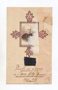Relique, Parcelle Des Vêtements De L'abbé Jean-Baptiste Fouque, Marseille, Auriol, 1851 - 1926 - Images Religieuses