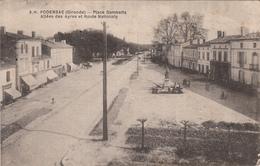 33 - PODENSAC - Place Gambetta  - Allées Des Ayres Et Route Nationale - Francia