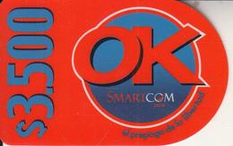 CHILE - SmartCom Prepaid Card $3500, Used - Chile