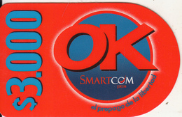 CHILE - SmartCom Prepaid Card $3000, Used - Chile