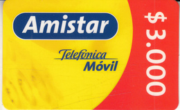 CHILE - Telefonica Prepaid Card $3000, Exp.date 01/09/03, Used - Chile