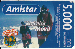 CHILE - Amistar Antartica 2002, Amistar By Telefonica Prepaid Card $5000, Exp.date 07/05/03, Used - Chile