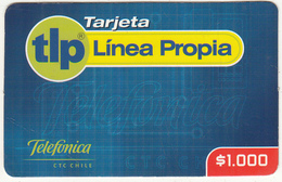 CHILE - Telefonica Prepaid Card $1000, 11/01, Used - Chile