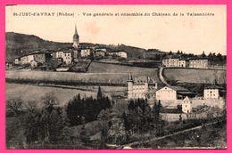 Saint Just D'Avray - Vue Générale Et Ensemble Du Château De La Valsonnière - B & G - 1918 - Otros Municipios