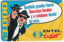 CHILE - ENTEL Prepaid Card $3000, Exp.date 30/12/03, Used - Chile