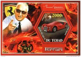 Tschad  Block Ferrari 2014  **/MNH - Voitures
