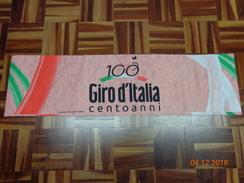 100° GIRO D'ITALIA CENTOANNI PARTE DI STRISCIONE ORIGINALE 2009 - Ciclismo