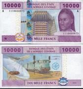 GABON  CENTRAL AFRICAN STATES 10000 Francs 2002 P 410A(3) UNC - Gabon