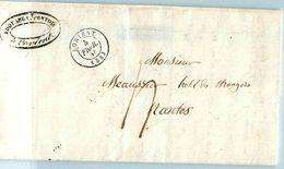 Lettre LORIENT Pour NANTES 1846 - Marcophilie (Lettres)