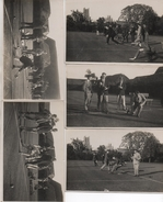 5 REAL PHOTOGRAPHIC POSTCARDS - BOWLING AT ELY - SOCIAL HISTORY - LOCAL PHOTOGRAPHER - STARR & RIGNALL - CAMBRIDGESHIRE - Ely
