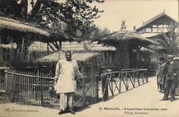 CPA. - MARSEILLE - N° 39 -Exposition Coloniale 1906 - Village Soudanais - TBE - Koloniale Tentoonstelling 1906-1922