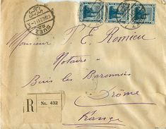 Enveloppe Recommandée  EGYPTE - SUEZ 1921 - Ägypten