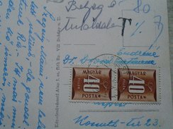 D144971  Hungary  Postage Due -Porto Stamps 1953  -2x 40 Filler + 2 X 20fill -Nagyhideghegyi Turistahaz Börzsöny - Postage Due