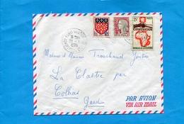 """Marcophilie-Françe -lettre Cad1985 """"Paris Aviation Bourget""""affranchissement Mixte Tp Cote D'ivoire + Françe Total= 55frs - Marcophilie (Lettres)"""