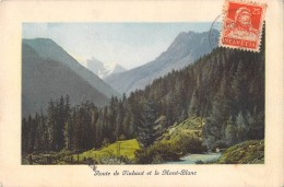 RARE ROUTE DE FINHAUT ET LE MONT BLANC / J.J 1677 EDITION JULLIEN - VS Valais