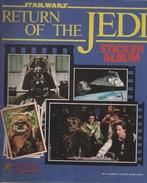 STAR WARS - RETURN OF THE JEDI STICKER ALBUM - 18 STICKERS STUCK IN - ORIGINAL - 1983 - Other Collections