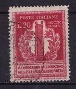 Italien, 1949, Volta, 20 Lire, MiNr. 784 Gestempelt (b160403) - 6. 1946-.. Republic