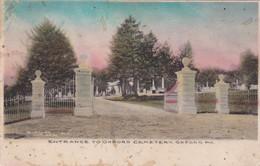 Entrance To Oxford Cemetery , OXFORD , Pennsylvania , 1908 - United States