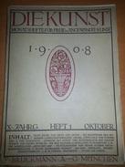 Aus 1908, Zahlreiche Kunstdrucke Fritz Erler, Beilage Zur Zeitschrift.... - Plakate