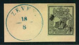 ZEVEN. Langstempel Komplett Auf 1 GGr. Auf Briefstück Mit Nebengesetztem K2