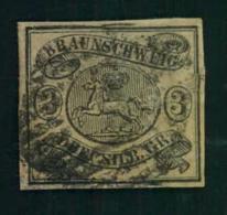 1862, 3 Sgr. Vollrandig, Repariert. Schöner Lückenfüller (Mi. 280,-) - Brunswick