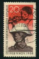 """1958, """"""""Pappchinese"""""""" Spät Entwertet 17.11.58, Siehe Vermerk Im Michel-Katalog. - DDR"""