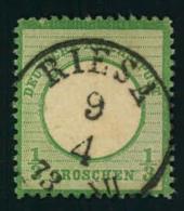 1872, 1/2 Groschen Kleiner Brustschild Mit Wunerbar Zentrischem Stempel RIESA.