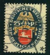 1928, 25 Pfg. Nothilfe Gestempelt (65,-) - Germany