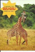 Carte  Neuve  D'un Couple De Girafes ( J'Adore Tes GUILI-GUILI Dans Le Cou ! ) - Giraffes