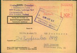 1979, Ortszustellung Mit Absenderfreistempel Der Justizbehörden DRESDEN, 75 Pfennig. - DDR