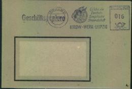 1984, Fensterbrief Geschäftsbriefe Mit Blauem Absenderstempel LEIPZIG W 31 KIROW-WERK - DDR