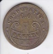 MONEDA DE 1 PESETA DE LA COOPERATIVA DE AZCOITIA 1915 - España