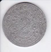 MONEDA DE 2 PESETAS DE LA COOPERATIVA DE AZCOITIA 1915 - España
