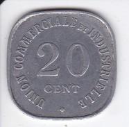 MONEDA DE 20 CENTIMOS DE LA UNION COMMERCIALE ET INDUSTRIELLE DE VINCENNES DEL AÑO 1917 - Monedas / De Necesidad