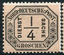 Stamp North German 1870 Confederation Official 1/4gr Mint  Lot25 - Conf. De L' All. Du Nord