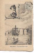 """""""   Vieux  Paris  -  Pont  Notre  Dame  (  1789 ) - 1900-1949"""